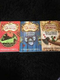 3 x How to train your dragon books