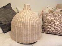 Rattan pendant shade - large height: 50cm x Width 50cm. £25