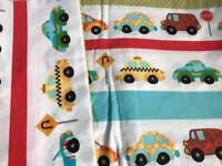 Boys transport cot bed bedding set