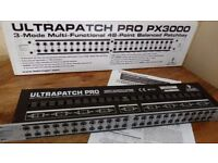 Behringer PX3000 Ultrapatch Pro 3 Mode Multi-Functional 48 Point Balanced