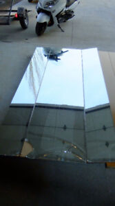 """One Large Three Sided Folding Mirror 48"""" When Fully Open 96"""" Tal"""