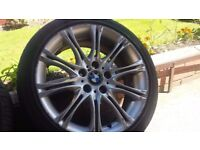GENUINE BMW MV2 18'' ALLOY WHEELS WITH AS NEW TYRES FOR ALL 3 SERIS