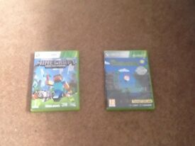 Xbox 360 games minecraft and terraria