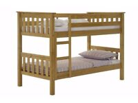 Design Vicenza Barcelona Bunk Bed, Wood, Antique Pine, 201 x 145.2 x 101 cm. Dismantled, may deliver