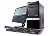 COMPUTER - HP COMPAQ DX2400 TOWER COMPLETE SYSTEM 17 INCH TFT + MOUSE + KEYBOARD INTEL CORE 2 WIN7