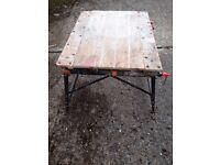 Folding workshop table