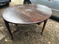 Georgian antique oak drop leaf table