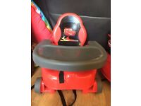 Lightning mcqueen booster seat with tray