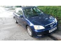 HONDA CIVIC HYBRID IMA 2003 ***LOW MILAGE* TAX ONLY £30 / YEAR / 12 months mot
