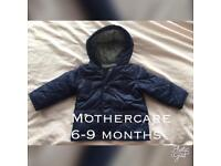 Lovely thick boys mothercare winter coat 6-9 months