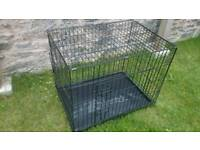 Medium pet dog crate cage