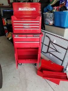 MasterCraft Combo Rolling Tool Chest with Husky Toolbox
