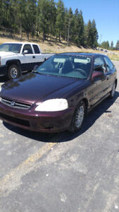 2000 Honda Civic CX Coupe (2 door) Hatch back