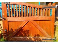 Solid Wood Garden or Drive Gates
