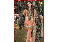latest designer inspired unstitched suits 3 piece..wholesale retail