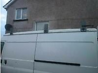 3 piece galvanised david murphy roofrack with roller for l.w.b ford transit