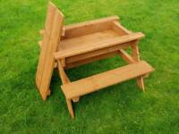 Kids Picnic Bench & Sand Tray