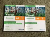 AS Edexcel Economics Student Unit 1 and 2 Guide Books