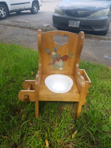 2 children's wooden potty chairs. Asking $30 each obo