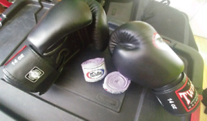 * Twins Special* 14oz gloves and wraps, hardly used