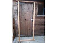 Wooden custom made exterior door frame