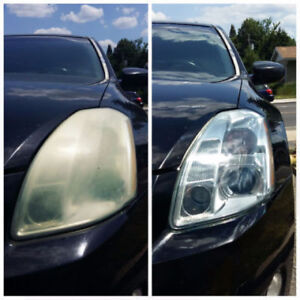 Headlights restoration for just $25(both) and less then 20 minut