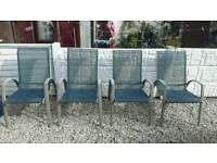 Garden chairs / patio chairs / outdoor furniture / decking area