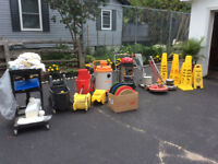 Complete cleaning equipment