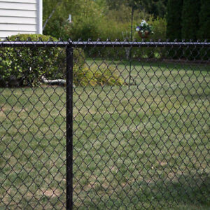 Black Chain Link Fence - 20' with Posts
