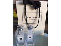 Jo Malone empty boxes and bottles.