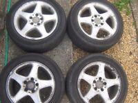 Mercedes alloy wheels tyres 205/55-16