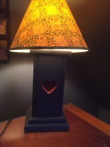 Wooden Lamps with shades (2)