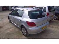 Peugeot 307 zest 200404-reg, 1400cc petrol, 73,000 miles, new MOT on purchase,