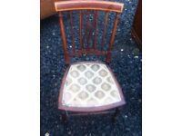 Petite Edwardian inlaid chair