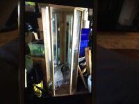 Beech corner display case