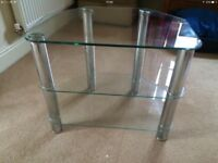 Glass and silver tv frame