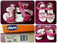 Girls chicco ergonomic sandals size 7.5 uk
