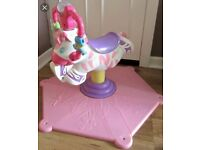 Fisher-Price Bounce 'N Spin Zebra (pink)