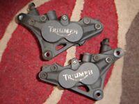 Ttiumph T312 front brake calipers