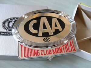 CAA Canadian Automobile Association Touring Club Montreal Plaque