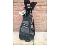 Full set Golf Clubs Lynx Black Cat Graphite Flare Shafted Woods, Graphite Shafted Irons and Lynx Bag
