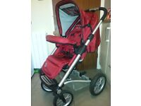 Mutsy 4-rider-pushchair with car seat and accessories