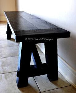 NEW RECLAIMED WOOD DINING/KITCHEN/ENTRY ROOM- BENCH/CHAIR/SEAT