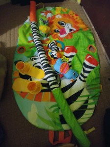 Tummy time mat and wagon