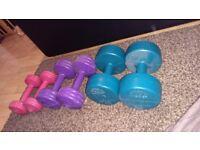 3 sets of dumbbells