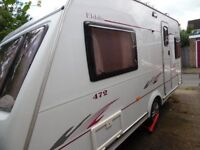 Elldis Avante 472. 2 berth Caravan. Excellent condition inc. awning