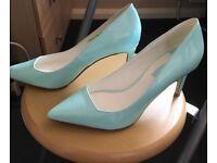 Aqua Blue Heels - Dorothy Perkins, Size 5