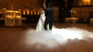 Wedding  dry ice effect