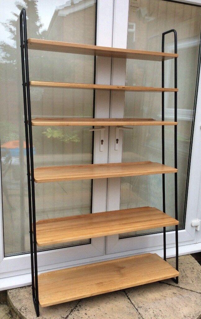 Heals Of London, Brunel Oak Wide Lean To Shelves.