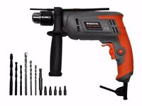 HEAVY DUTY DIY COMPACT CORDED HAMMER DRILL 240V With Right Angle attachment